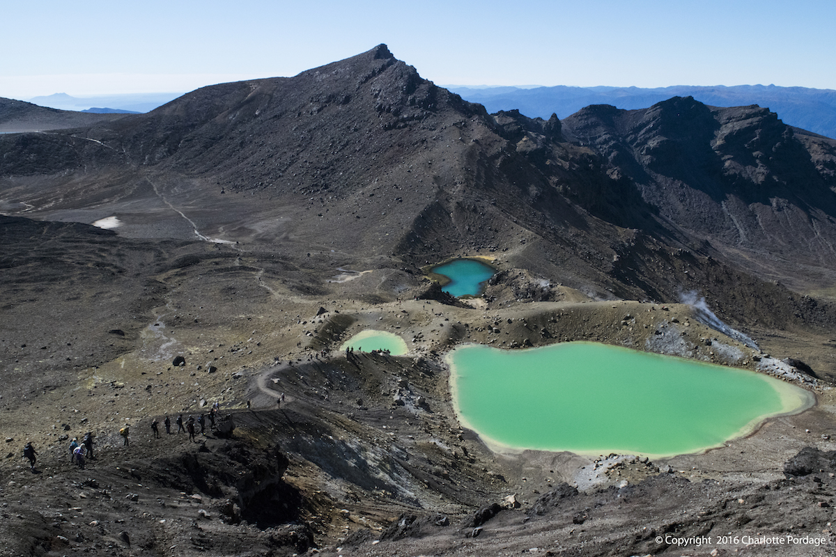 The Sulphur lakes at Tongariro Alpine Crossing